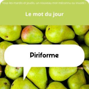 piriforme définition
