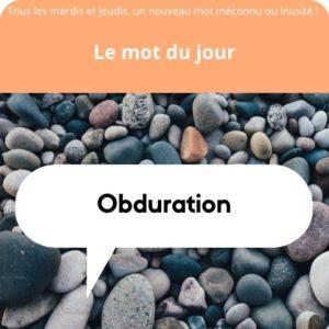 obduration définition